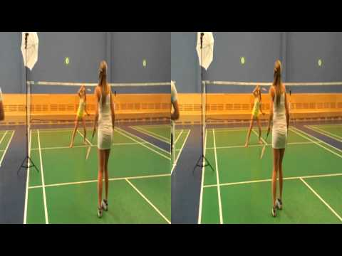 Badminton in 3D with models