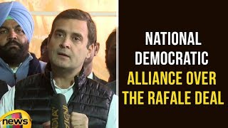Rahul Gandhi About National Democratic Alliance over the Rafale Deal | Rahul Gandhi Latest Speech - MANGONEWS