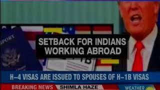 Major setback for Indians; Trump administration to cancel H-4 visa rule - NEWSXLIVE