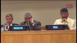 AP CM Chandrababu Speaks About Natural Farming in United Nations Organisation | CVR NEWS - CVRNEWSOFFICIAL