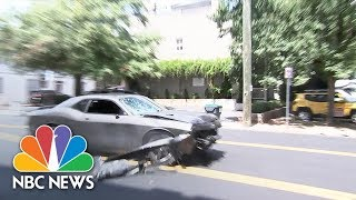 Car That Plowed Into Charlottesville Crowd Spotted Leaving the Scene | NBC News - NBCNEWS