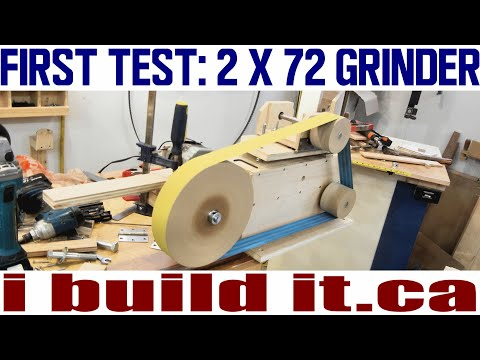 Making A 2 X 72 Belt Grinder - First Test