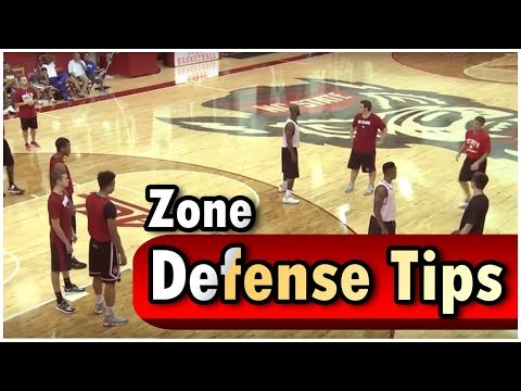 Basketball Clinic Teaching North Carolina State Zone Defense - Faking and Fading - Coach Bobby Lutz