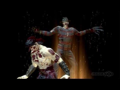 Mortal Kombat Freddy Krueger vs. Liu Kang Gameplay (PS3, Xbox 360)