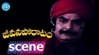 Jeevana Poratam Movie Scenes - Kaikala Satyanarayana Saves Radhika || Rajinikanth || Vijayashanti - IDREAMMOVIES