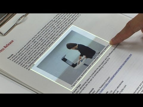 Touchscreen interface for seamless data transfer between the real and virtual worlds #DigInfo
