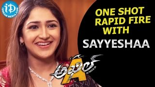 One Shot    Rapid Fire With Sayyeshaa Saigal    Talking Movies with iDream - IDREAMMOVIES