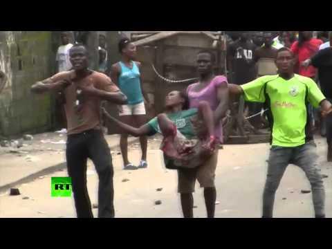 Caos por el ébola: La Policía dispara contra civiles que huyen de la zona en cuarentena