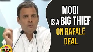 Rahul Gandhi Says PM Of India Is A Big Thief On Rafale Deal | Rahul Gandhi Speech | Mango News - MANGONEWS
