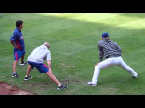 Yu Darvish 1st MLB Start Warm-Up Drills