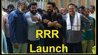 RRR Launch - NTR |  Ram Charan | SS Rajamouli - RAJSHRITELUGU