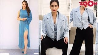 Sara Ali Khan in all blue attire | Sonam's triple denim look | Style Today - ZOOMDEKHO