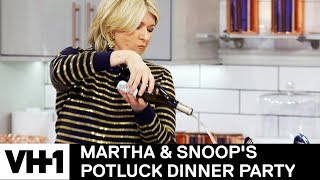 Martha Stewart Pours One Out For Julia Child 'Sneak Peek' | Martha & Snoop's Potluck Dinner Party - VH1
