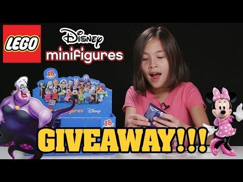 LEGO DISNEY MINIFIGURES!!! PART 6 - Minifigure GIVEAWAY!!!
