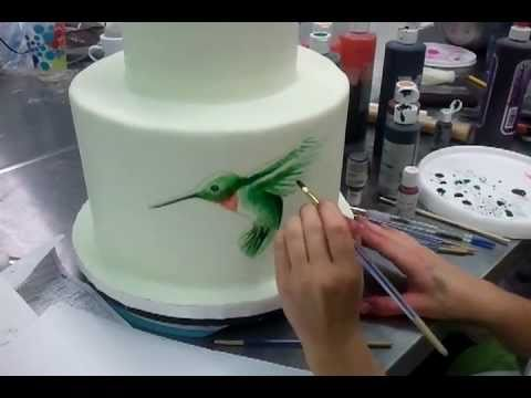 Painting on Cakes part 1 Savannah Custom Cakes