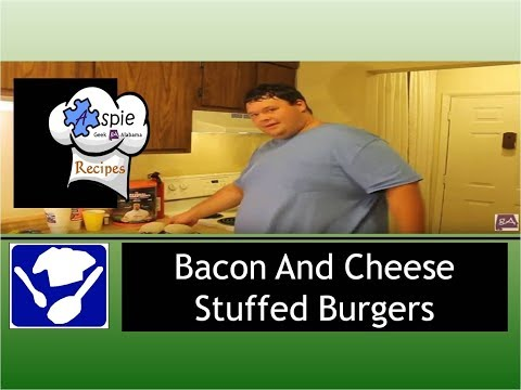 Guy's Cuisine: Bacon and Cheese Stuffed Burgers With Homemade Buns