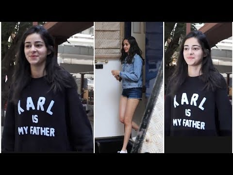 Ananya Panday Shooting For A Brand @Filmalaya Studios - SPOTTED
