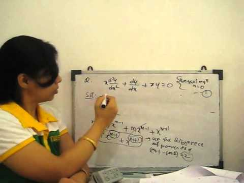 Second Order linear differential equation Solve by Series Method