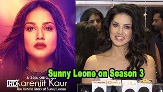 "Sunny on Season 3 of 'Karenjit Kaur: The untold story of Sunny Leone"" - BOLLYWOODCOUNTRY"