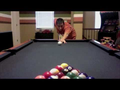 amazing break! sinks every ball but 8 ball...