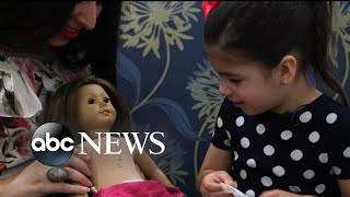 Little girl and her American Girl doll have matching surgery scars - ABCNEWS