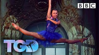 Fierce Ellie wows Matthew in chandeliers challenge - The Greatest Dancer | LIVE - BBC