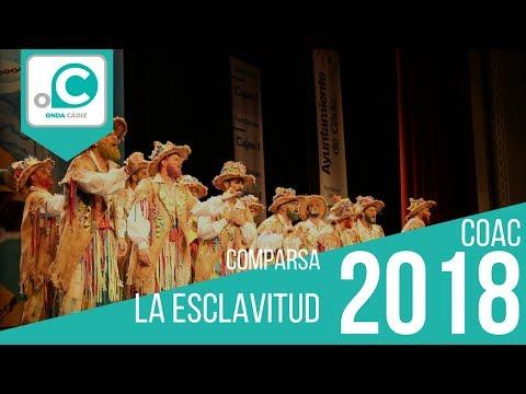 La agrupación La esclavitud llega al COAC 2018 en la modalidad de Comparsas. Primera actuación de la agrupación para esta modalidad.