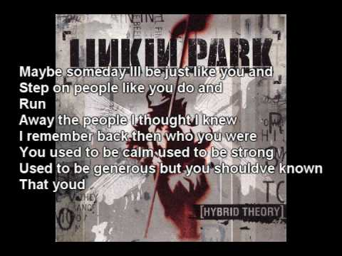 Linkin Park – A Place For My Head (lyrics In vid and description)