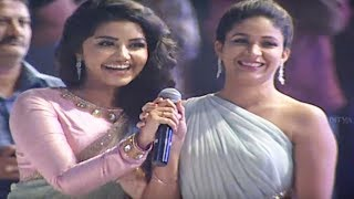 Ram, Anupama, Lavanya, DSP Singing Whatamma Song ||  Vunnadhi Okate Zindagi Audio Launch - ADITYAMUSIC