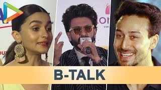 B Talk | Alia Bhatt's Smart Reply to Kangana | Tiger's EPIC Question for Salman Khan | Ranveer Singh - HUNGAMA