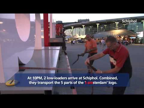 'I amsterdam' touches down at Schiphol