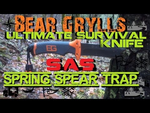 Bear Grylls Ultimate Survival Knife- SAS Sring Spear Trap