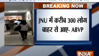 JNU: Six ABVP leaders injured in clashes, situation remains tense - INDIATV