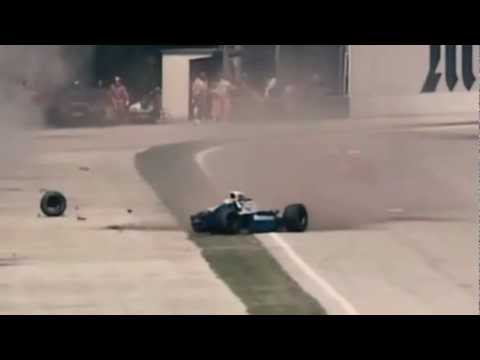 Ayrton Senna crash 1994 Imola *STABILIZED + HD16/9 + ZOOMED + NATURAL SOUND + SLOW -IFDbLO49X2A