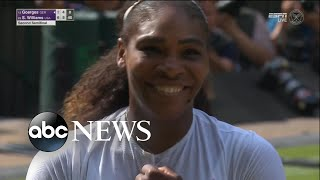 Serena Williams advances to her 10th Wimbledon final - ABCNEWS