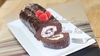Eggless Chocolate Cake Swiss Roll Video Recipe by Bhavna - SUPERVEGGIEDELIGHT
