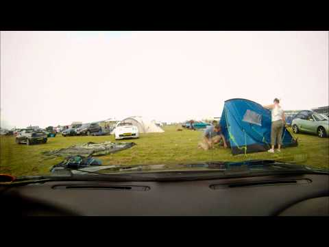 Accidental tent errection timelapse at Silverstone for MG90
