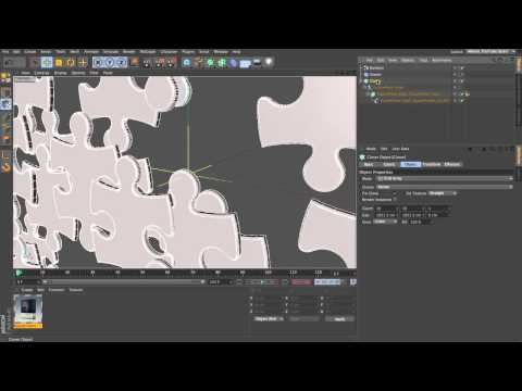 CINEMA 4D MoGraph Jigsaw Puzzle Tutorial - Part 1/4