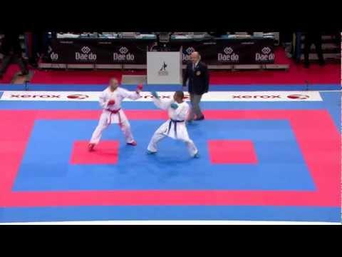 Ciro Massa vs William Rolle. Bronze Male Kumite -67kg. 21st WKF World Karate Championships 2012