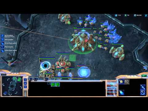 Minigun coaching Destiny on playing protoss [Game 2] - Starcraft 2