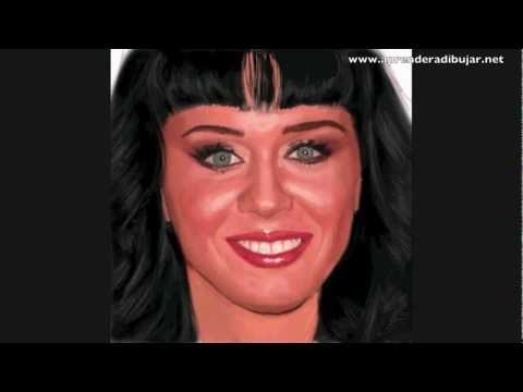 Vdeo retrato de Katy Perry - Dibujos de mujeres famosas