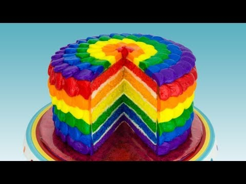Rainbow Cake: How to Make a Rainbow Cake by Cookies Cupcakes and Cardio