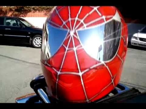 Spiderman helmet airbrushed on HJC CS-R1