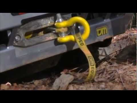 Winching with Synthetic winch rope