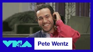 Pete Wentz Reacts To His 2007 VMA Performance w/ Fall Out Boy | 2017 Video Music Awards | MTV - MTV