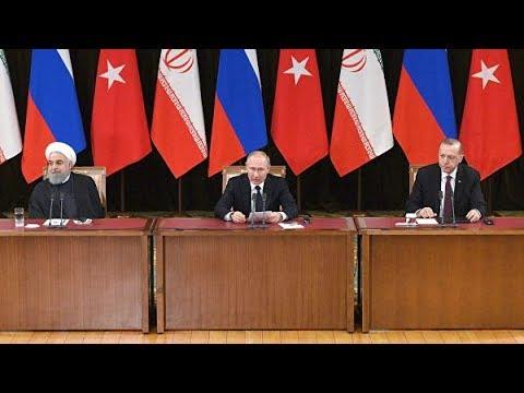 Пресс-конференция Путина, Эрдогана и Роухани В Сочи 14.02.2019
