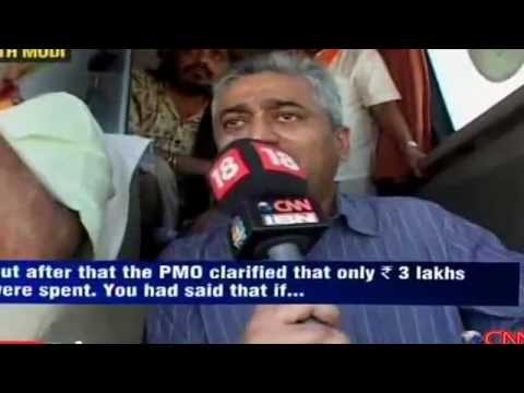 PART 1 - Arrogant Modi cornered by Rajdeep Sardesai on Godhra and Bihar! Watch full video. MUST SEE!