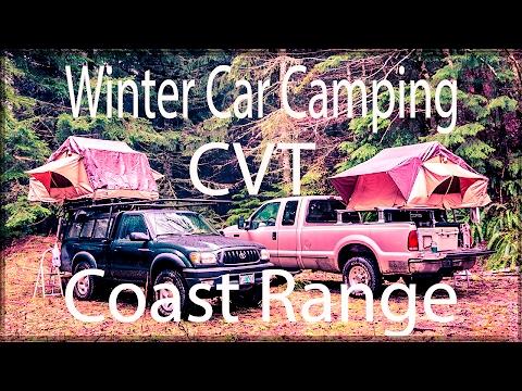 CVT MT Shasta Winter Car Camping Oregon Coast Range