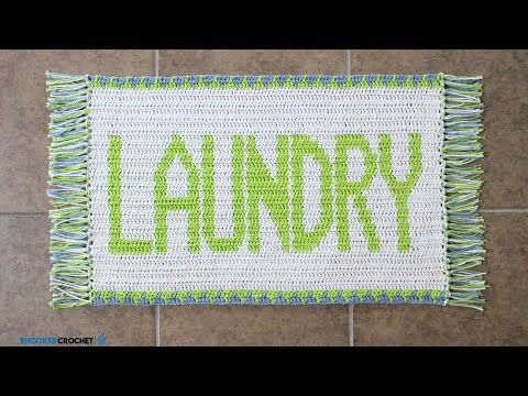 How To Crochet: Tapestry Crochet Laundry Rug
