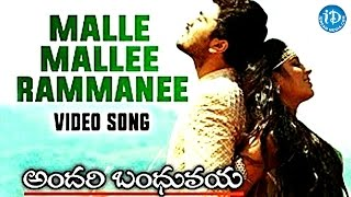 Mallee Malle Rammanee Song || Andari Bandhuvaya Movie || Sharwanand, Padmapriya || Anoop Rubens - IDREAMMOVIES